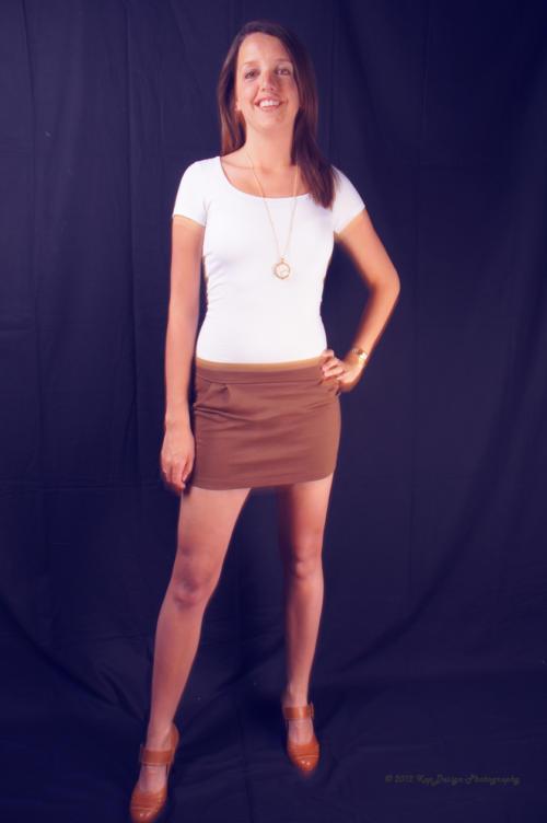 Frederike bruine mini rok
